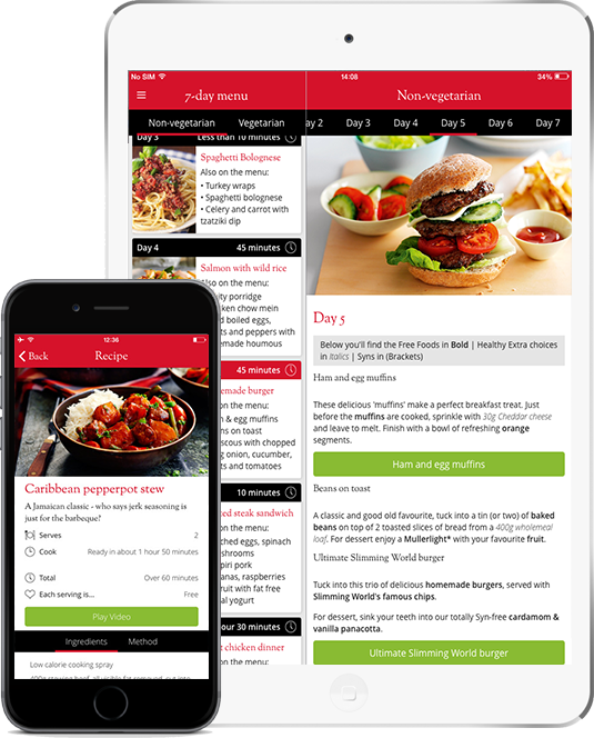 Slimming world app 2014 app case study the distance york Slimming world app for members